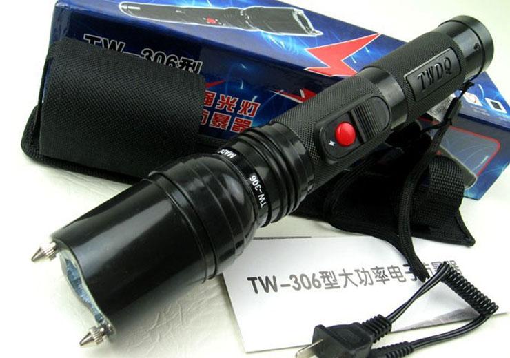 电棒防身_TW-306型警用高压电击器-防身效果好-防身电棒「安盾电棍专卖网」